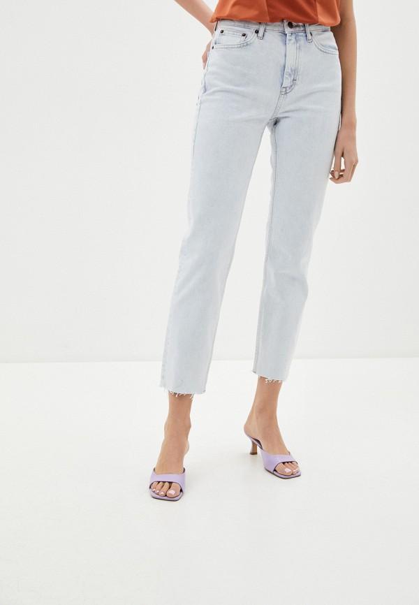 женские прямые джинсы topshop, голубые