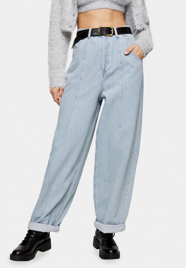 женские джинсы клеш topshop, голубые