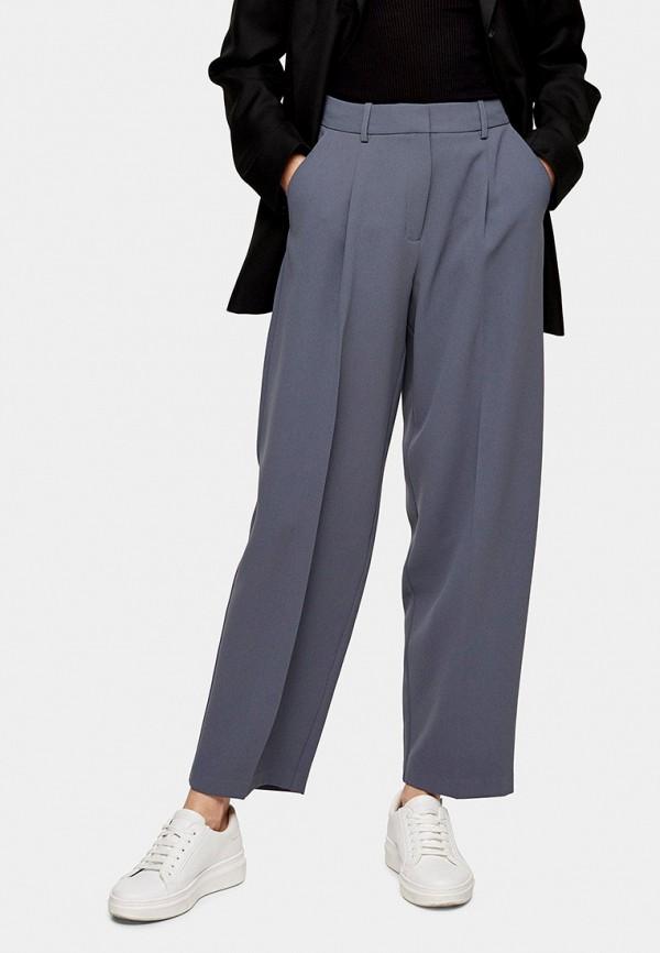 женские классические брюки topshop, синие