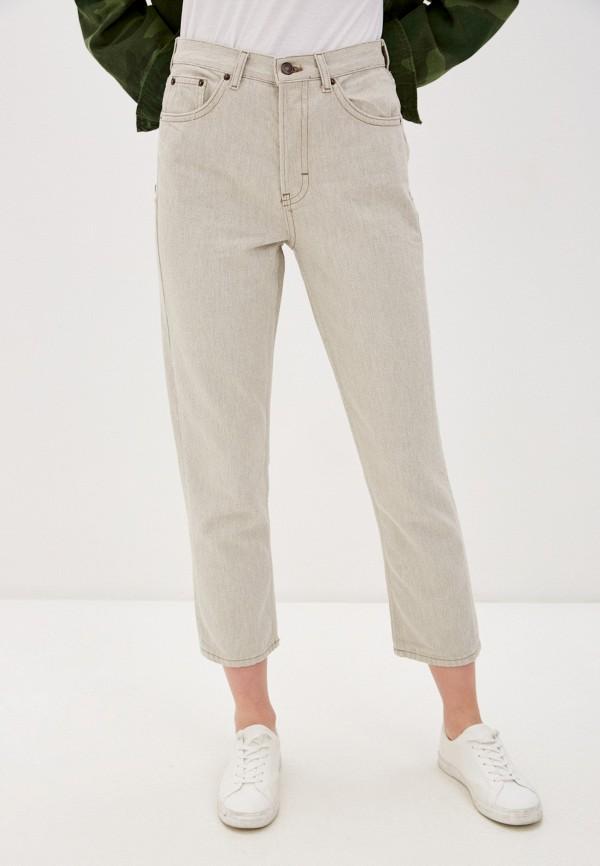женские повседневные брюки topshop, бежевые