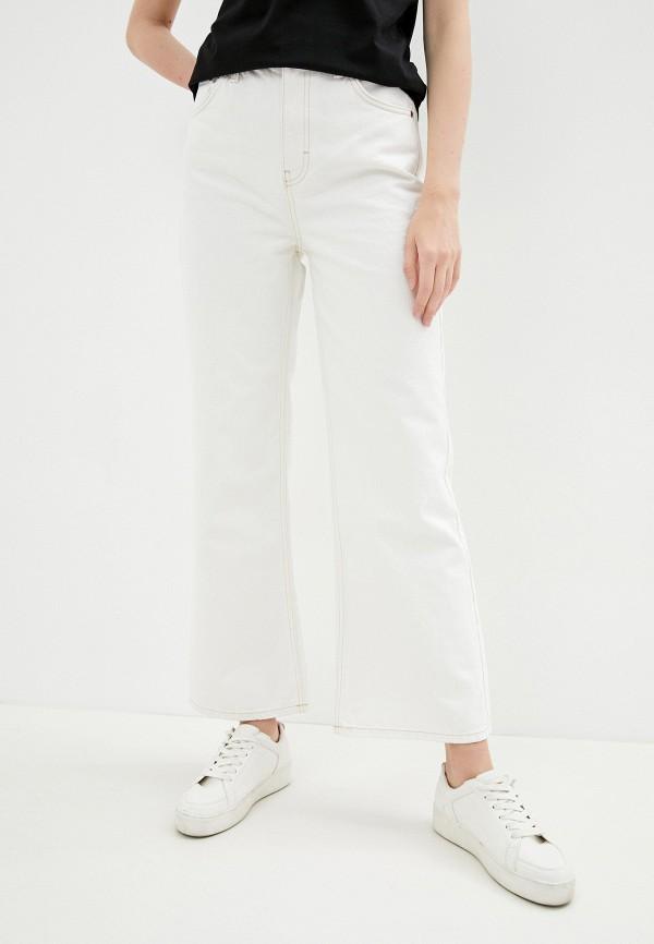 женские джинсы клеш topshop, белые