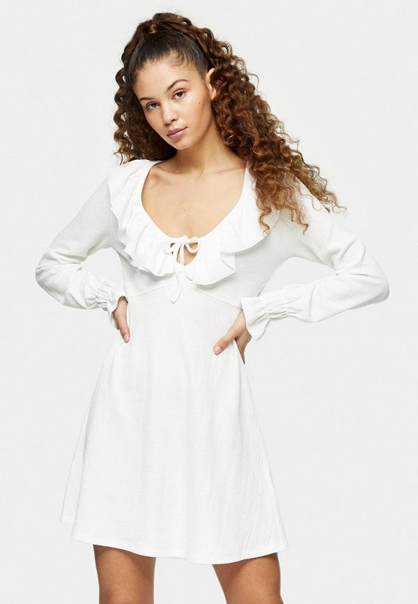 женское повседневные платье topshop, белое