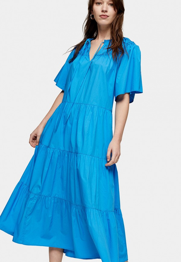 женское повседневные платье topshop, синее