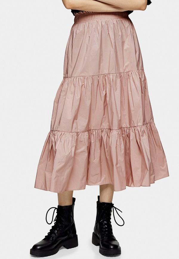 женская юбка topshop, розовая