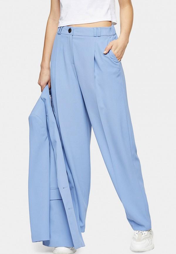 женские повседневные брюки topshop, голубые