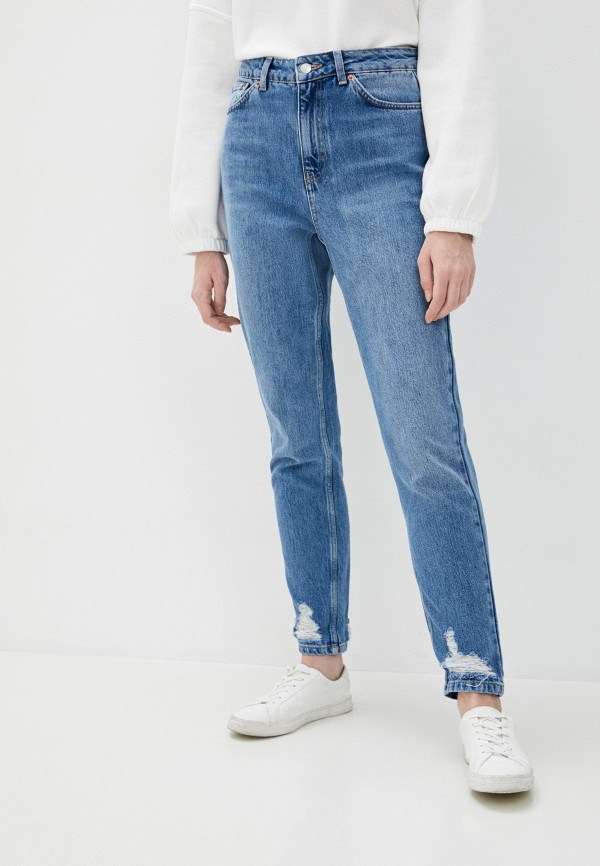 женские джинсы topshop, голубые