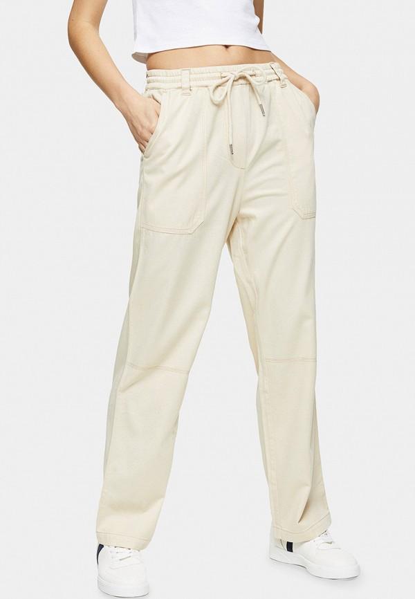 женские брюки topshop, бежевые