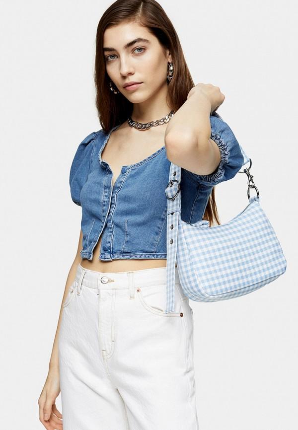 женский топ topshop, синий