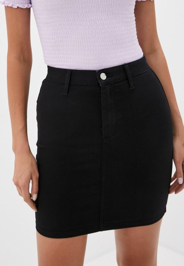 женская прямые юбка topshop, черная