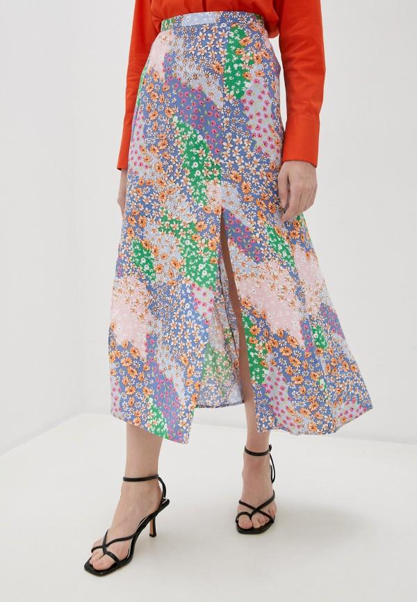 женская юбка-трапеции topshop, разноцветная
