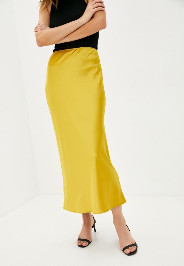 женская юбка topshop, желтая