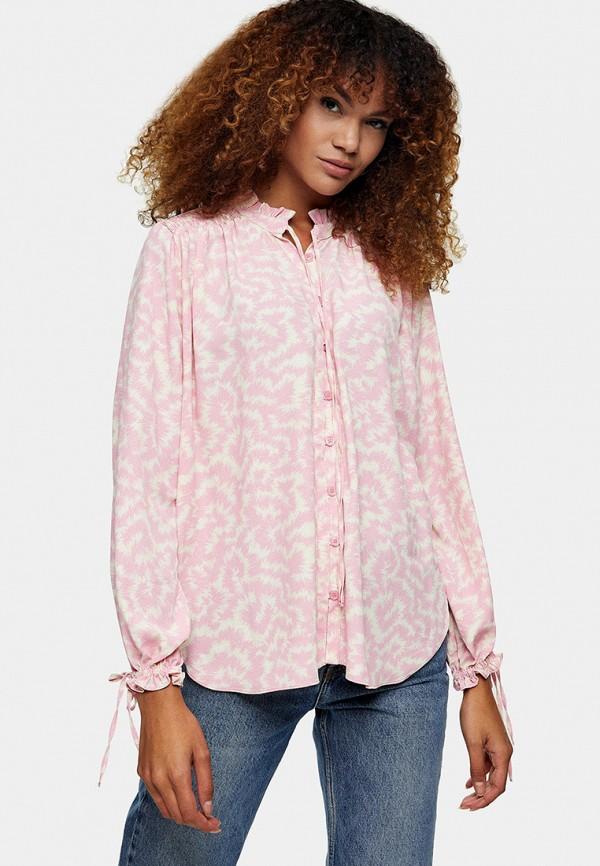 женская блузка topshop, розовая