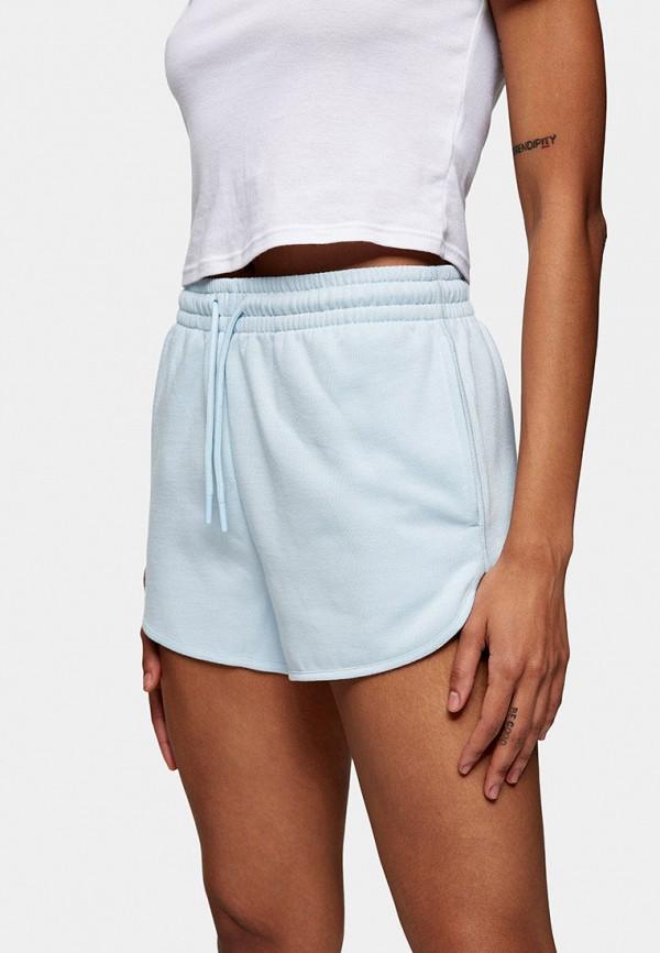 женские спортивные шорты topshop, голубые