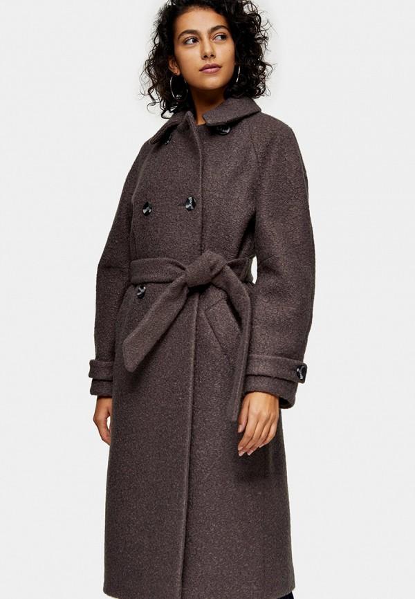 женское пальто topshop, серое