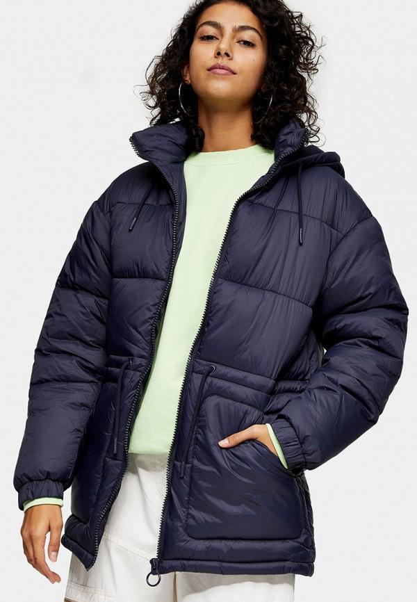 женская куртка topshop, синяя