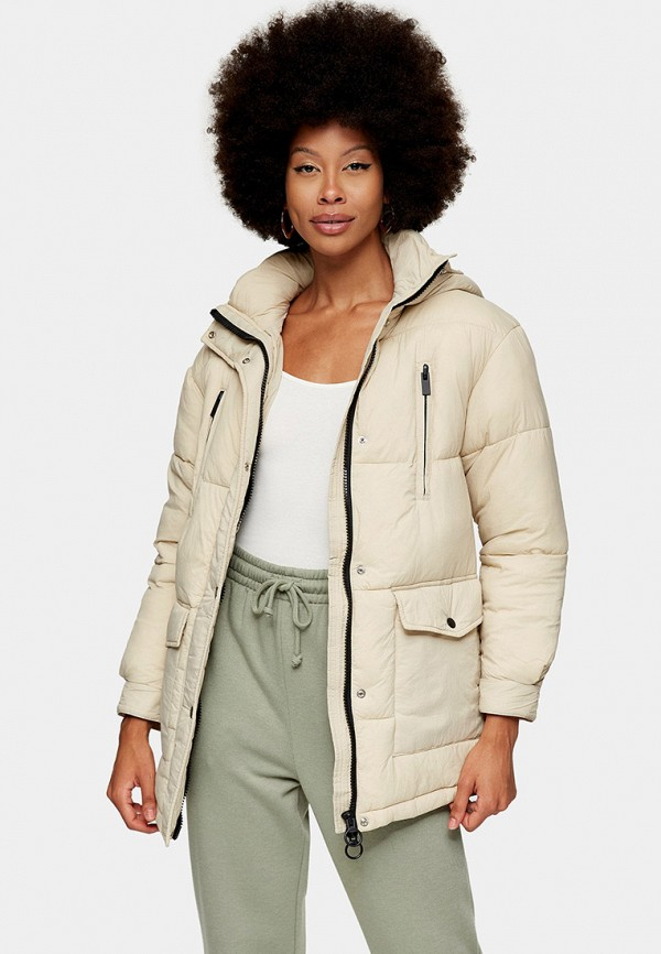 женская куртка topshop, бежевая
