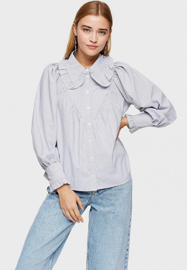 женская блузка topshop, голубая