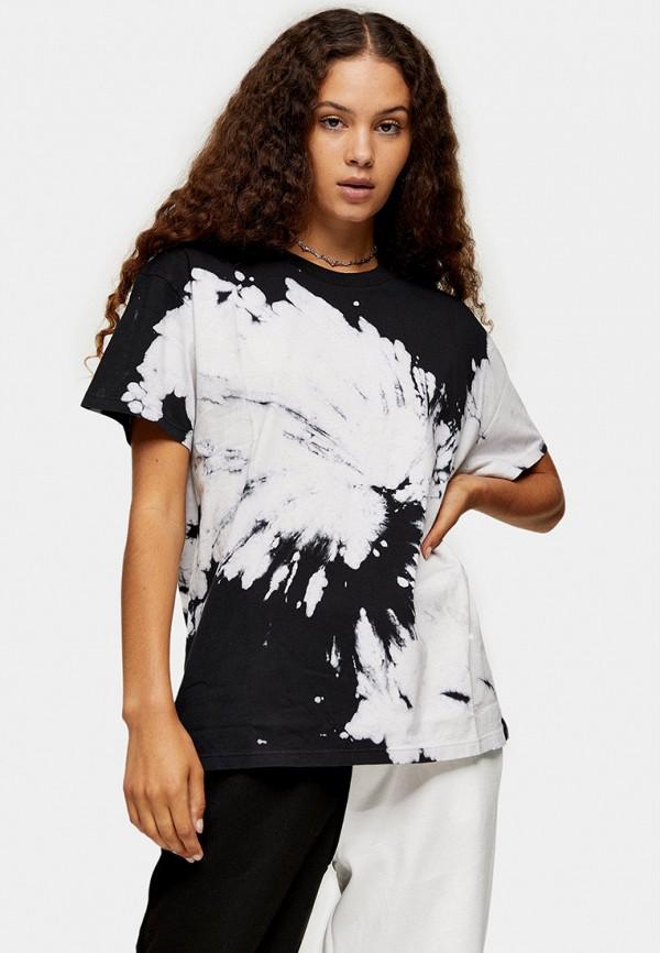 женская футболка topshop, черная