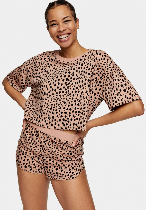 женская пижама topshop, бежевая