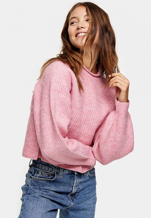 женский джемпер topshop, розовый