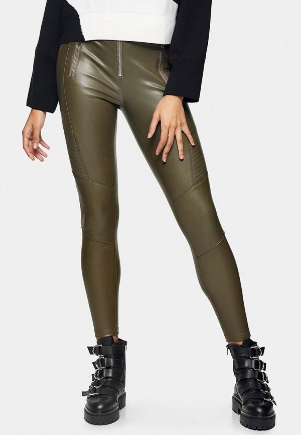 женские брюки topshop, хаки
