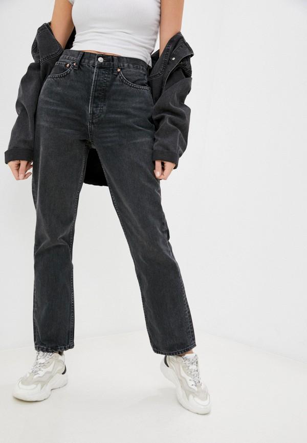 женские прямые джинсы topshop, серые