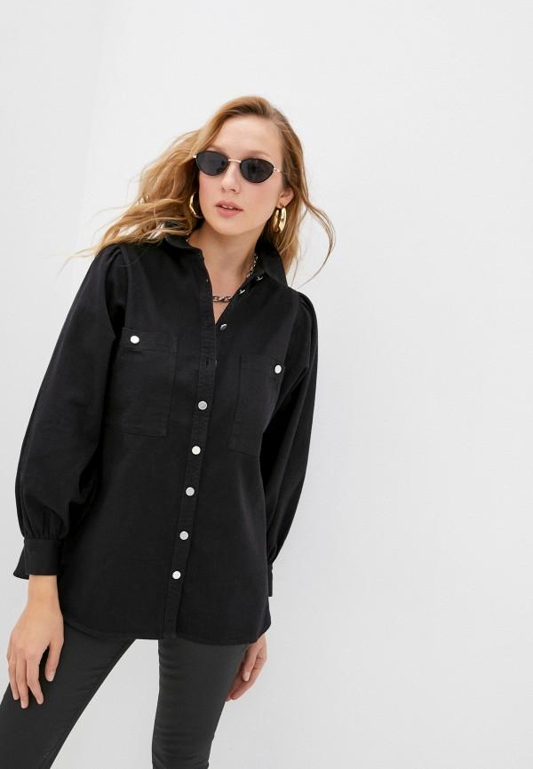 женская джинсовые рубашка topshop, черная