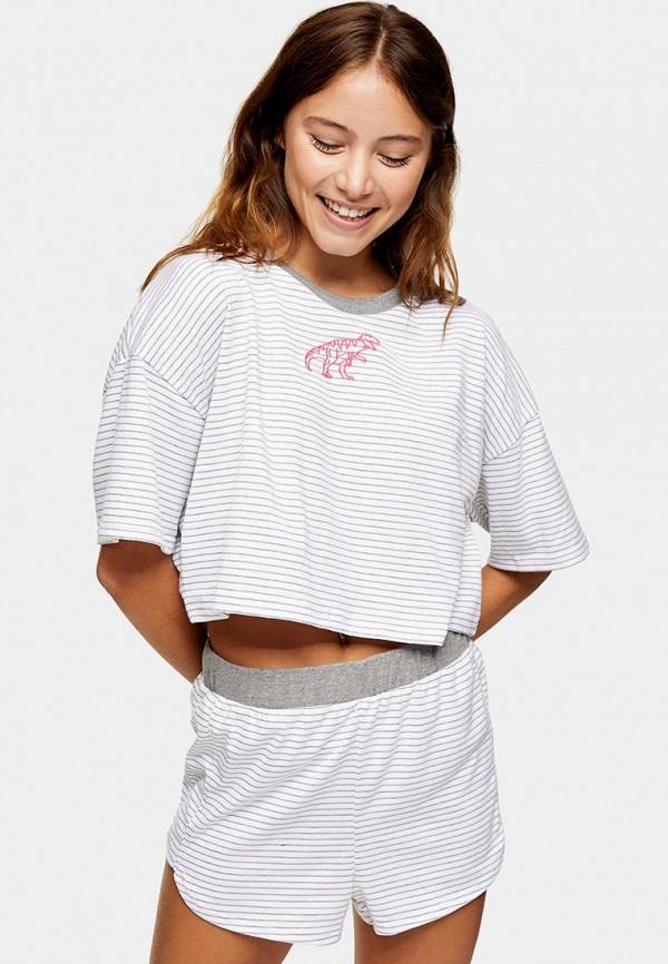 женская пижама topshop, белая
