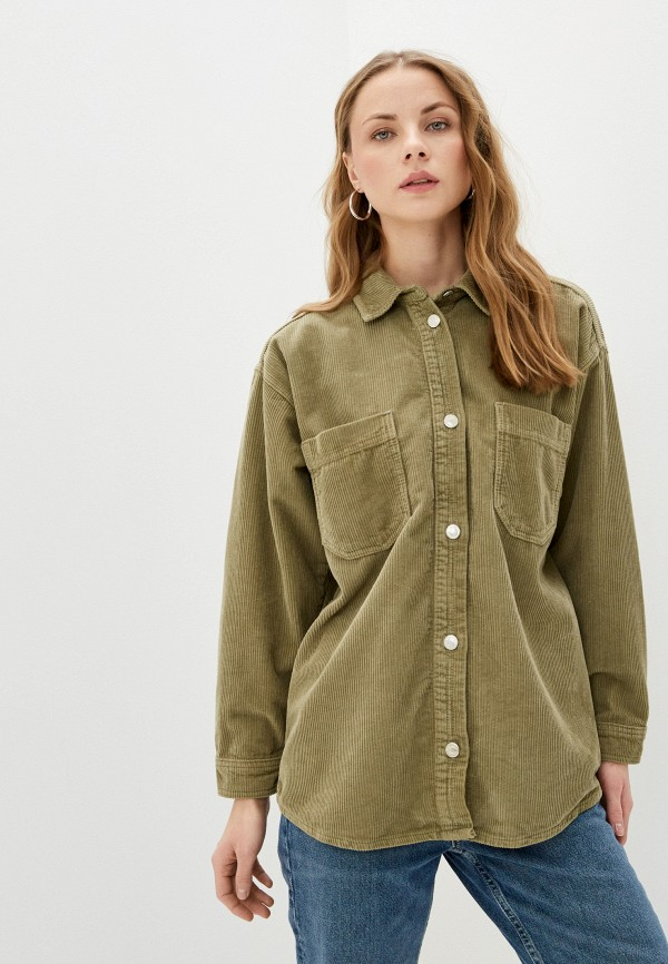 женская рубашка с длинным рукавом topshop, хаки