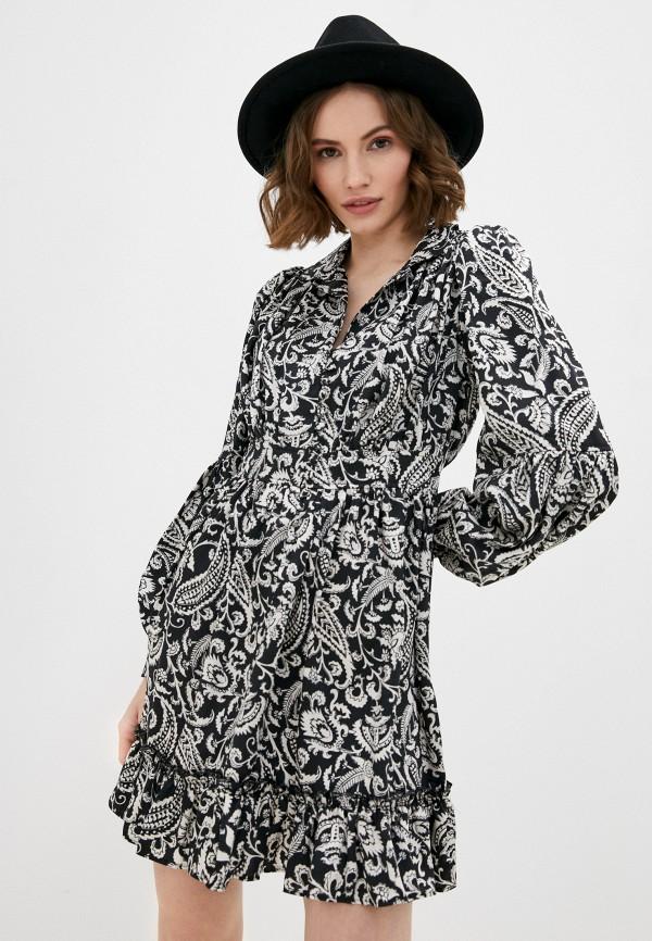 женское повседневные платье topshop, черное