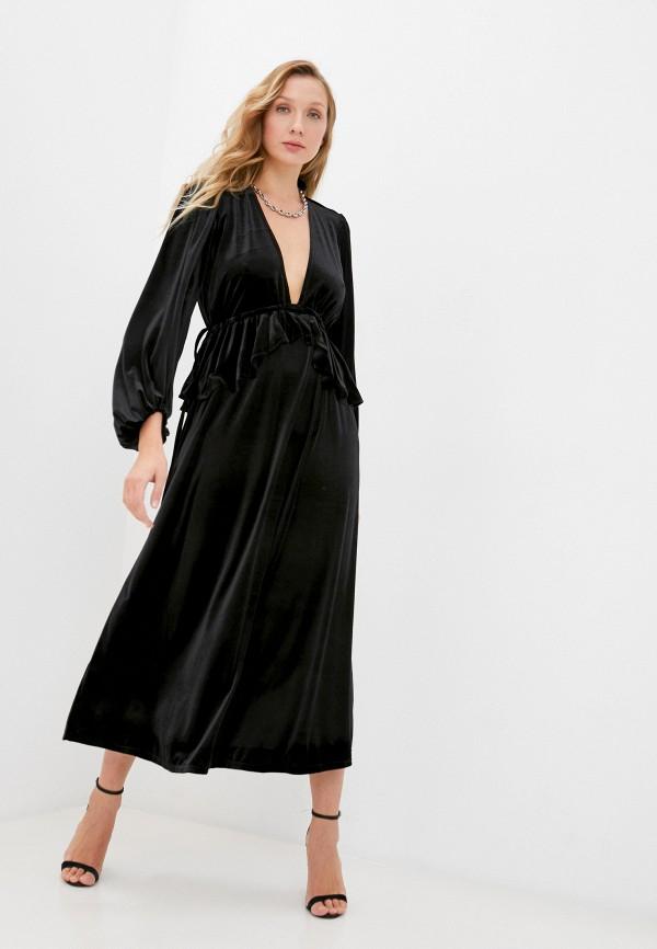 женское вечерние платье topshop, черное