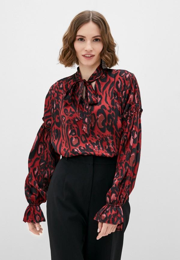женская блузка topshop, красная