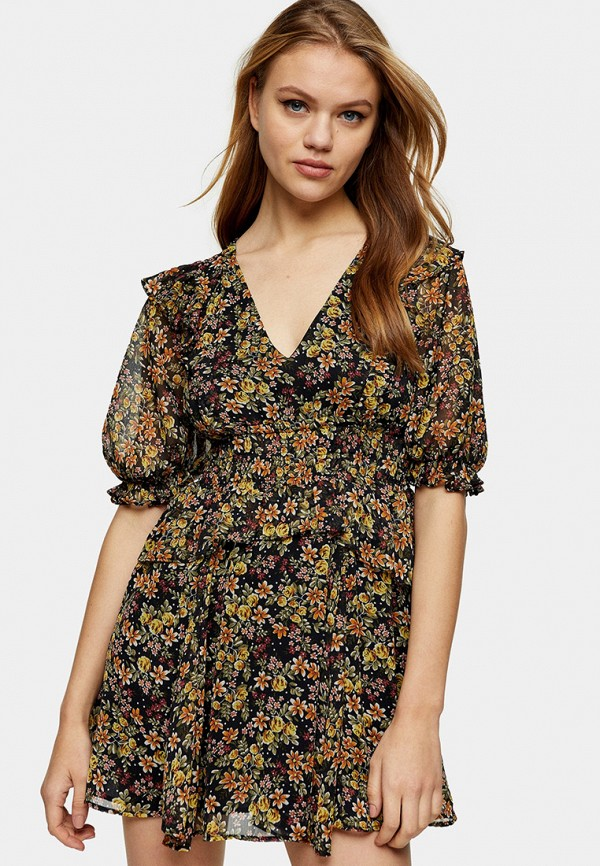 женское повседневные платье topshop, разноцветное