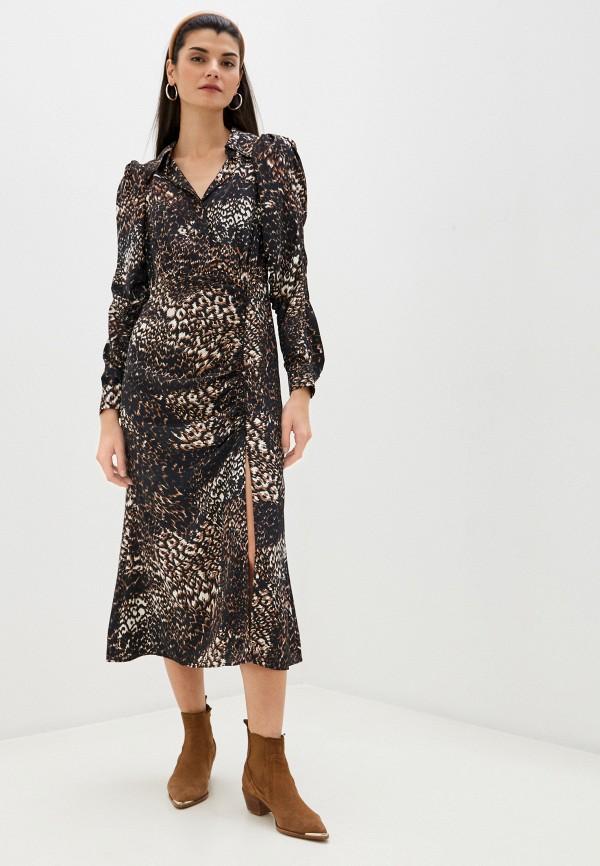 женское повседневные платье topshop, коричневое