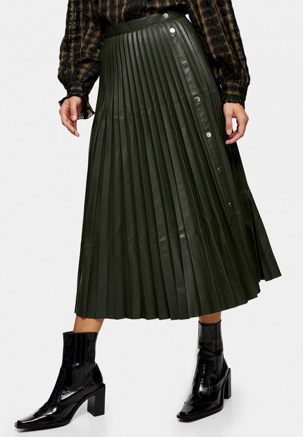 женская юбка topshop, зеленая