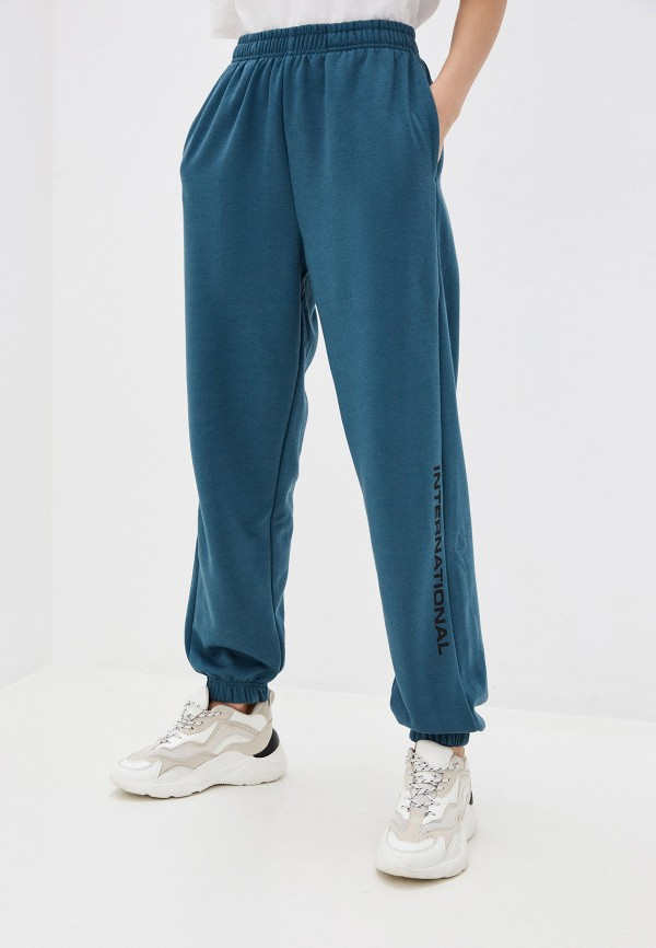 женские спортивные брюки topshop, бирюзовые