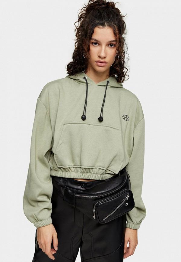 женские худи topshop, зеленые