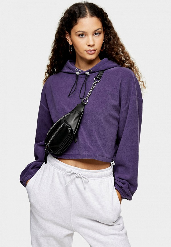 женские худи topshop, фиолетовые