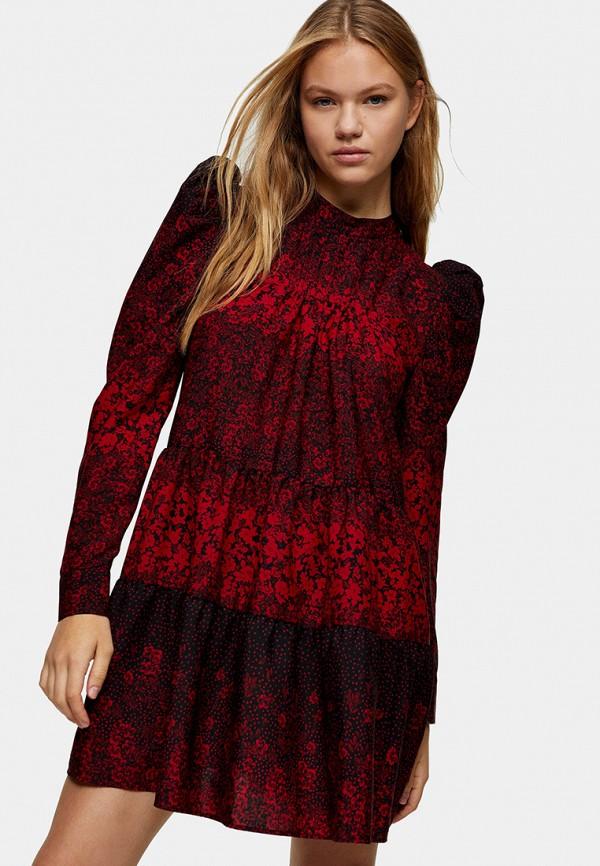 женское повседневные платье topshop, красное