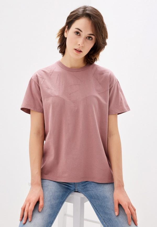 женская футболка topshop, розовая