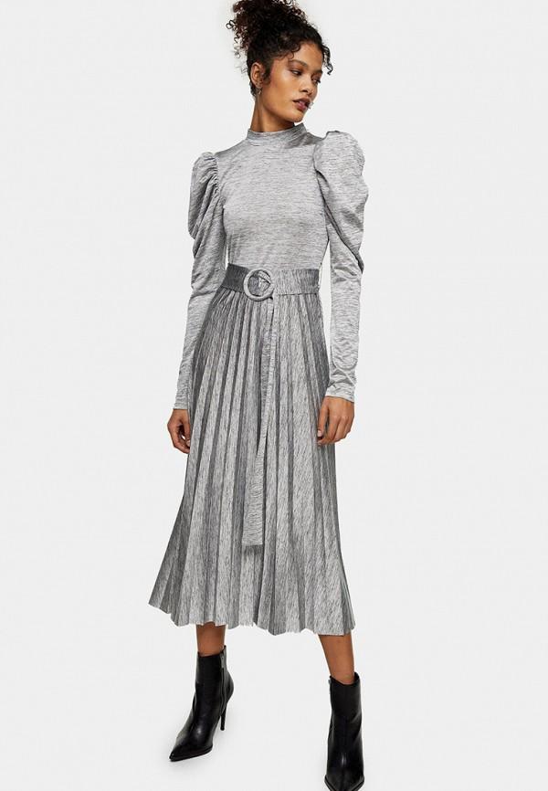 женское повседневные платье topshop, серое