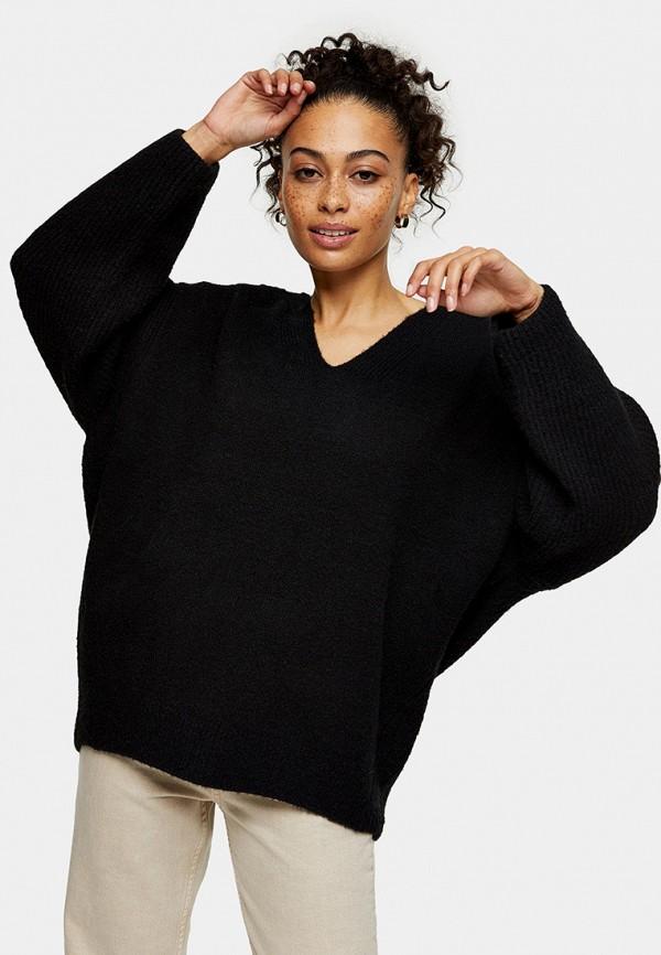 женский пуловер topshop, черный