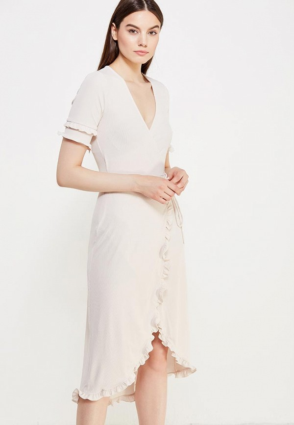 Купить Платье Topshop, to029ewuws94, бежевый, Осень-зима 2017/2018