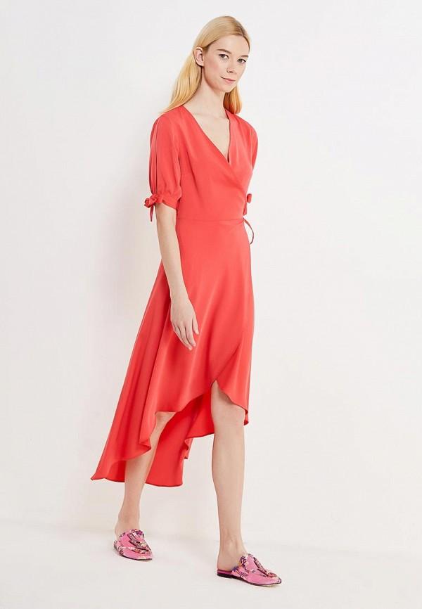 Купить Платье Topshop, to029ewvhp16, коралловый, Осень-зима 2017/2018