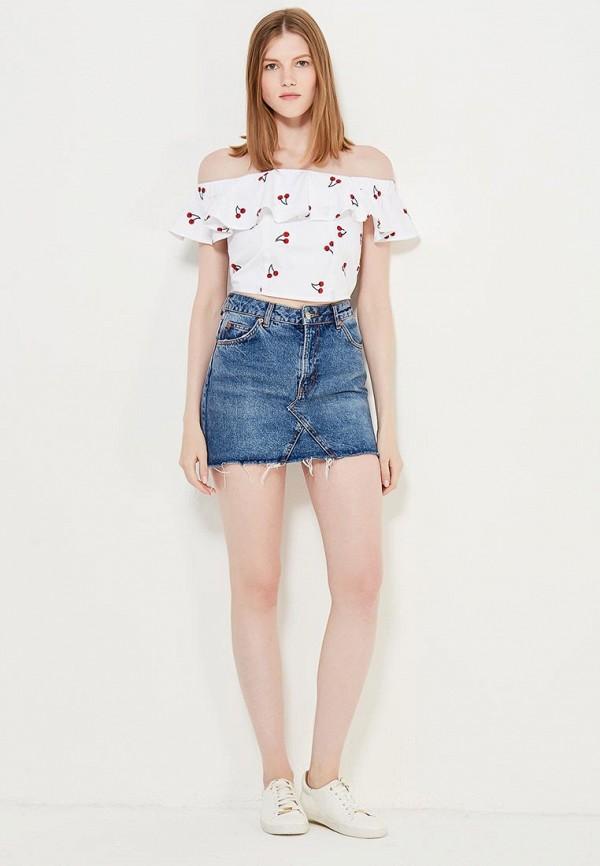 Фото 6 - женскую блузку Topshop белого цвета