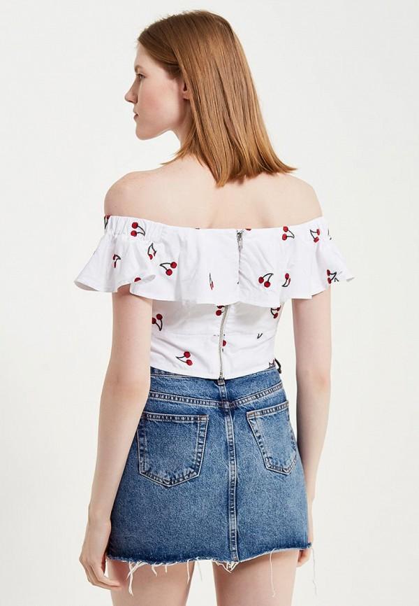 Фото 7 - женскую блузку Topshop белого цвета