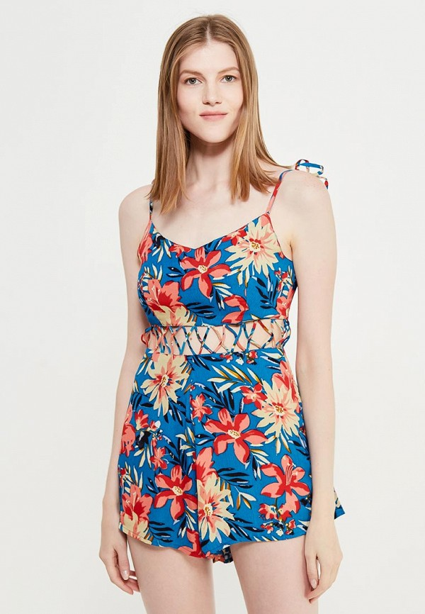 Фото 4 - женский комбинезон Topshop разноцветного цвета