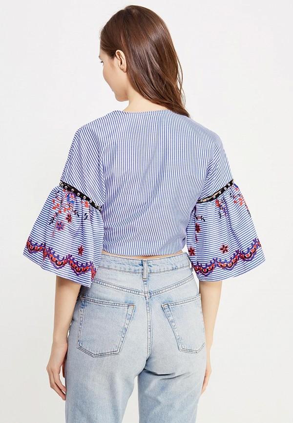 Фото 6 - женскую блузку Topshop синего цвета