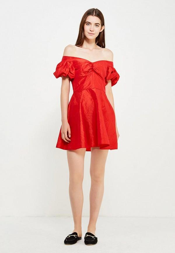 Фото 5 - женское платье Topshop красного цвета