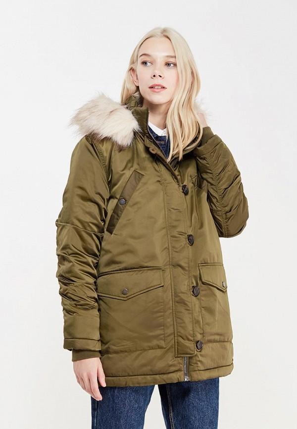 Купить Куртка утепленная Topshop, to029ewygg47, зеленый, Осень-зима 2017/2018